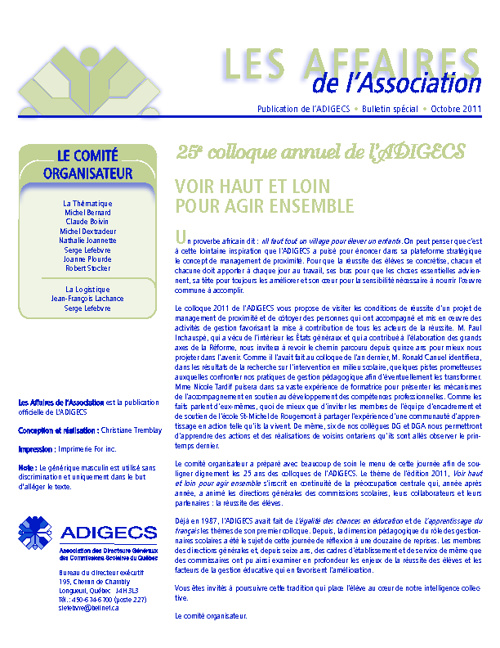 ADIGECS - Infolettre
