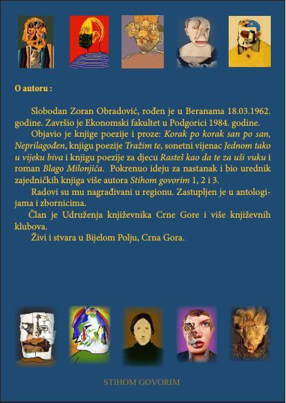"Slobodan Zoran Obradović  ""Malo slovo o životu"""