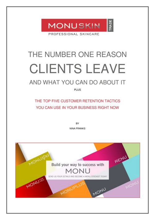 KEEP YOUR CLIENTS
