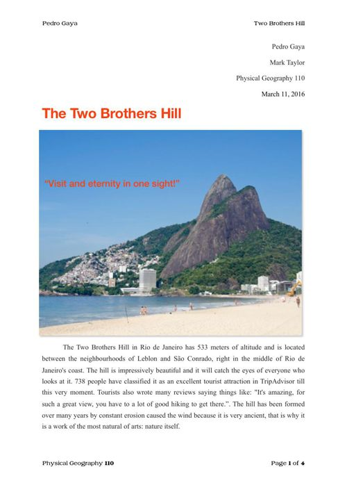 Two Brothers Hill