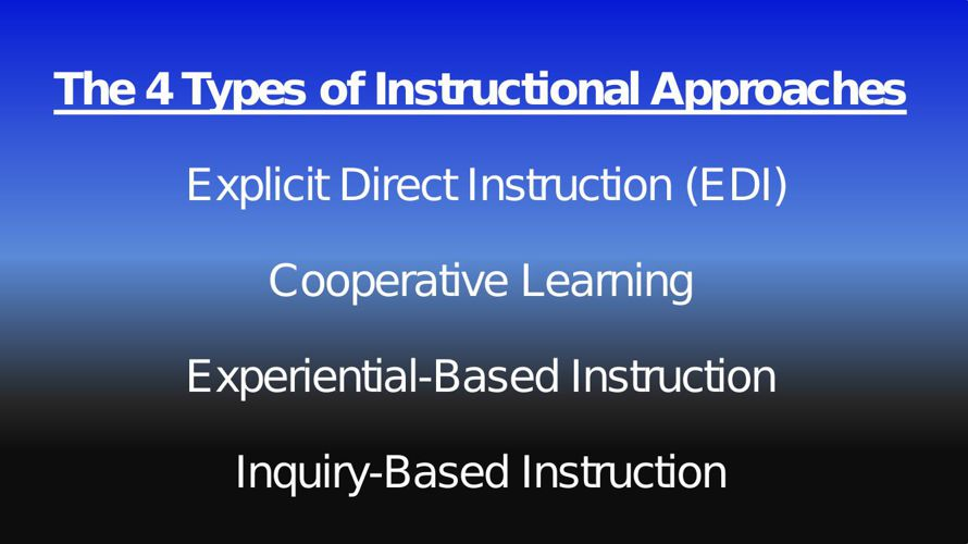The 4 Types of Instructional Approaches