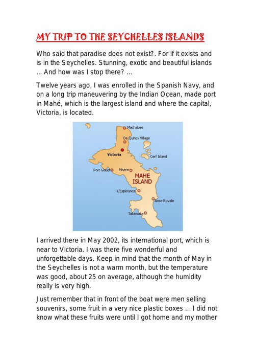 TRAVEL WRITING: Seychelles Islands.