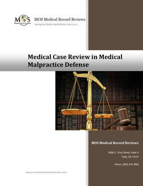 Medical Case Review in Medical Malpractice Defense