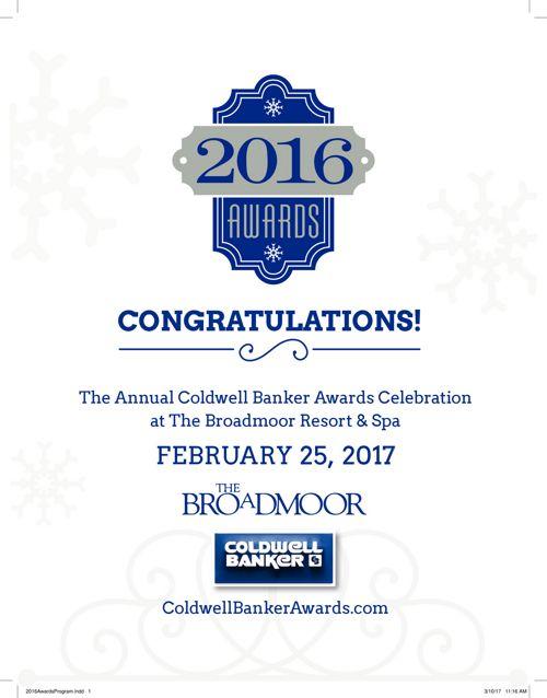 2016 Awards Program