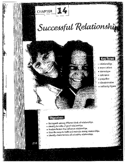 Successful Relationships Reading