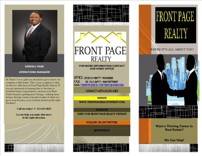 FRONT PAGE REALTY DERTOIT