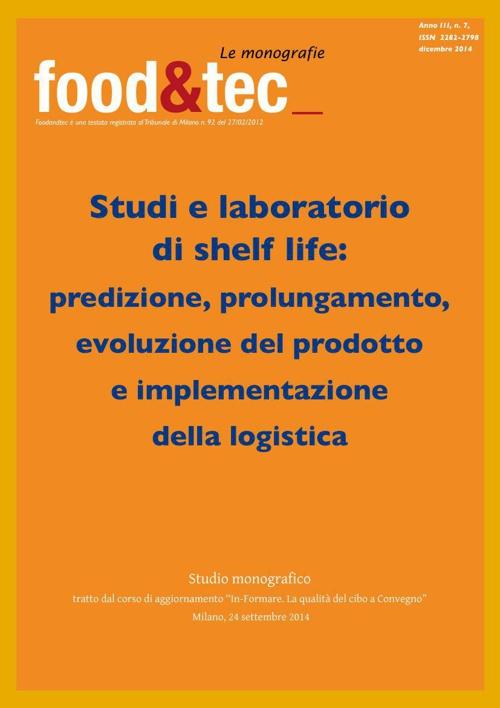 Monografia Studi e laboratori di shelf life