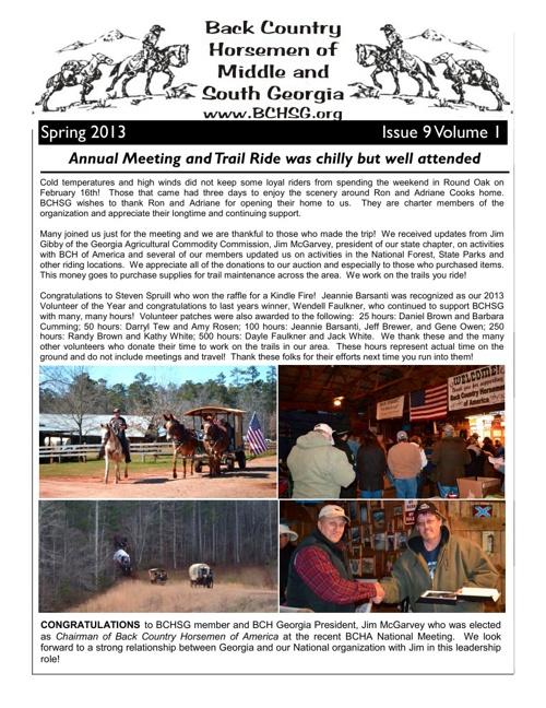 BCHSG Spring 2013 Newsletter