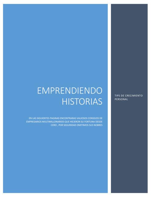 EMPRENDIENDO HISTORIAS