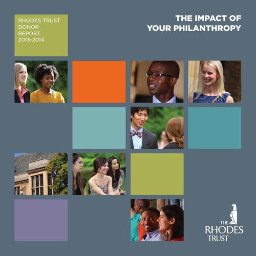 Rhodes Trust Donor Report 2013-2014