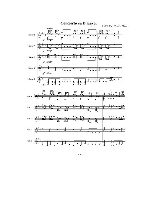 Concierto en D Mayor - A. Vivaldi 5 Guitarras