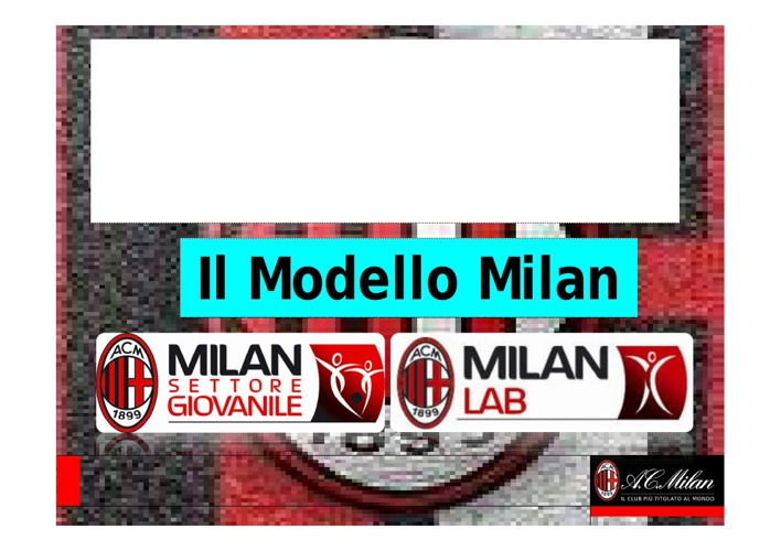 Il Modello Milan Convegno AIPAC 2011 Gualtieri