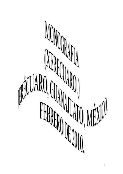 Monografia Jerecuaro