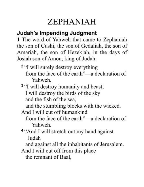 Book Of Zephaniah