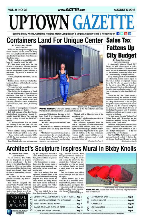 Uptown Gazette     August 5, 2016