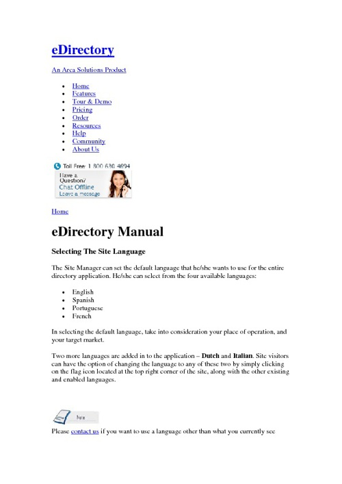 Edirectory Site Manager