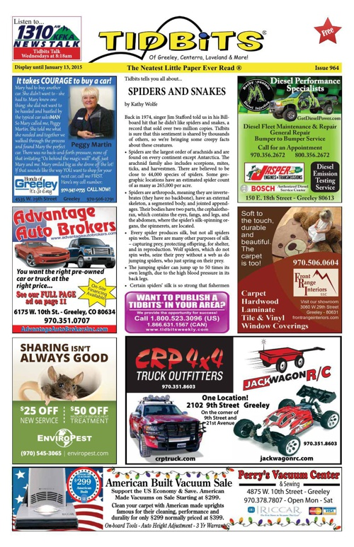 Tidbits of Greeley/Centerra/Loveland, Issue 964
