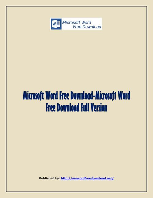Microsoft Word Free Download-Microsoft Word Free Download Full V