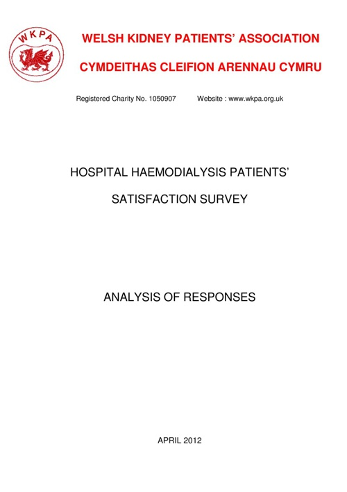HAEMODIALYSIS PATIENTS' SURVEY
