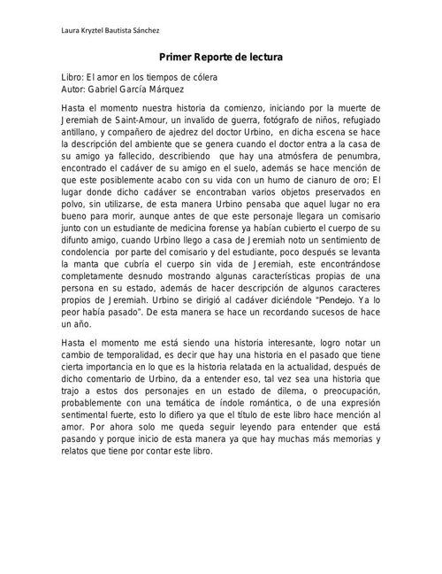 PRIMER REPORTE DE LECTURA