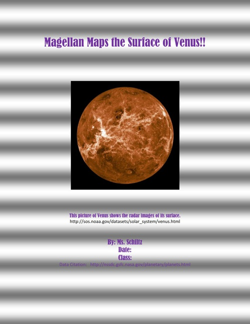 Example Venus- Organized Space Probe Info for FLIPSNACK I