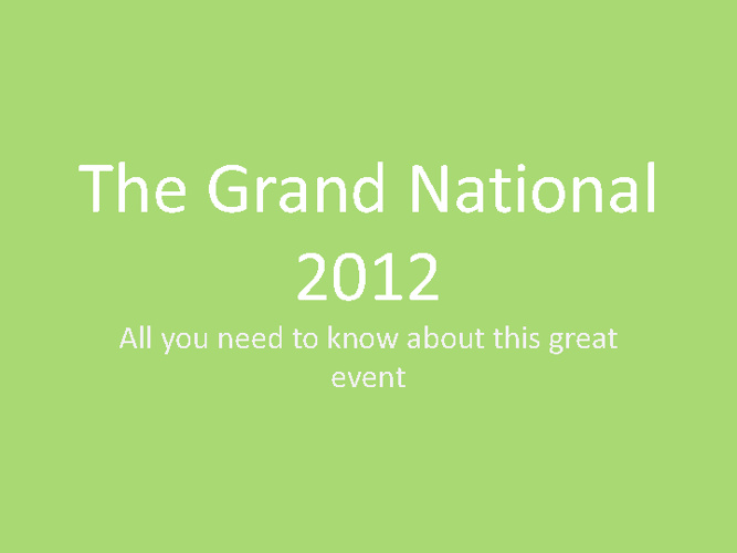 The Grand National 2012