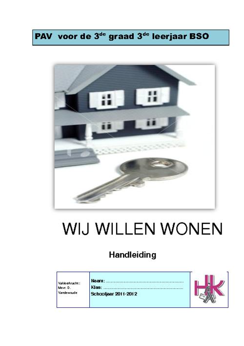 Thema: Willen wonen - handleiding