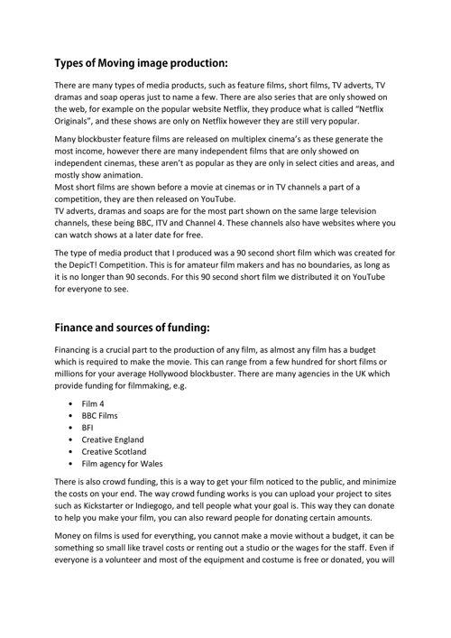 btec media essay