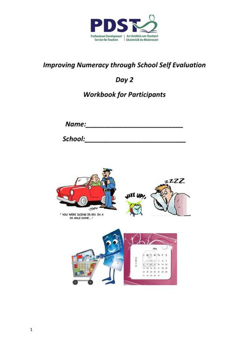 PP SSE & Numeracy Booklet Day 2 5.6.15