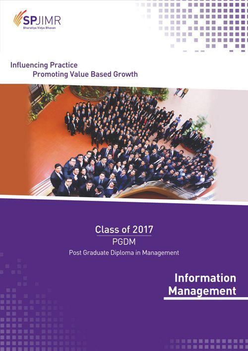 SPJIMR PGDM Information Management Batch Profile 2015-17