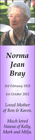 Norma Bray Sample 1 version one