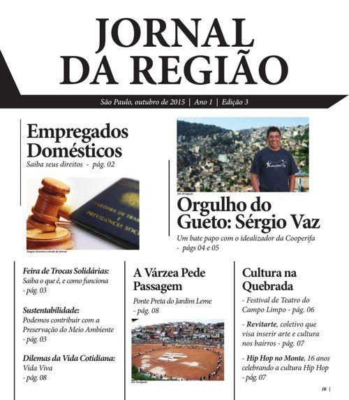 Jornal da Região  l  Edição 3  l  Outubro de 2015