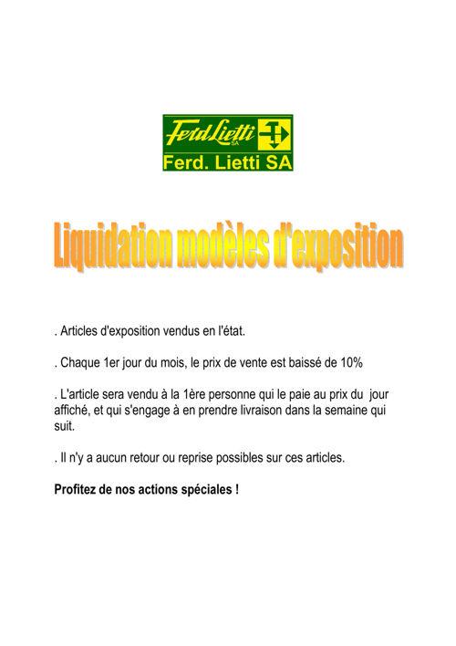 liquidation modèles exposition octobre 2016