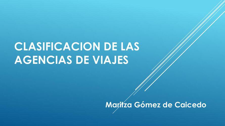 CLASIFICACION DE LAS AGENCIAS DE VIAJES