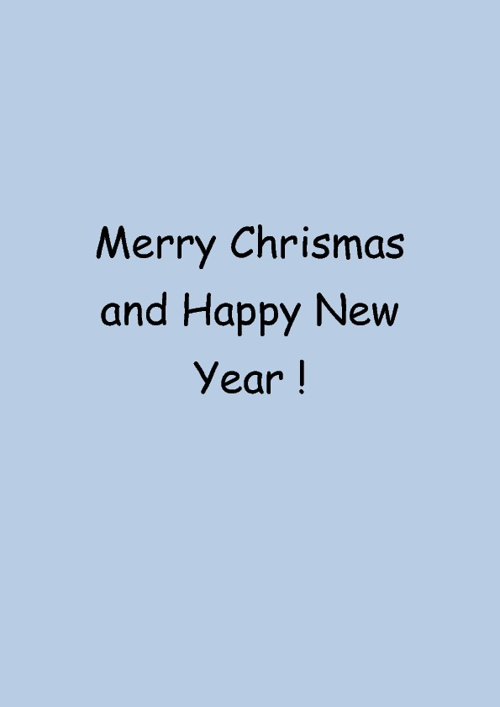 Merry Chrismas and Happy New Year 2012 !