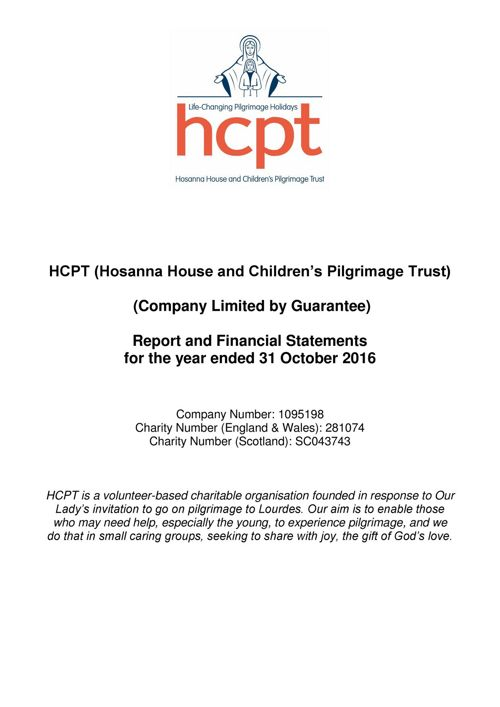 HCPT (Hosanna House and Children's Pilgrimage Trust)