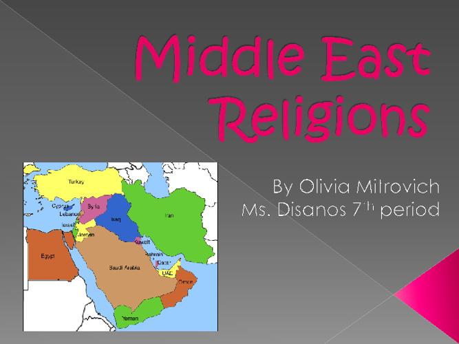 middle east religions compare/contrast-oliviamitrovich7thperiod