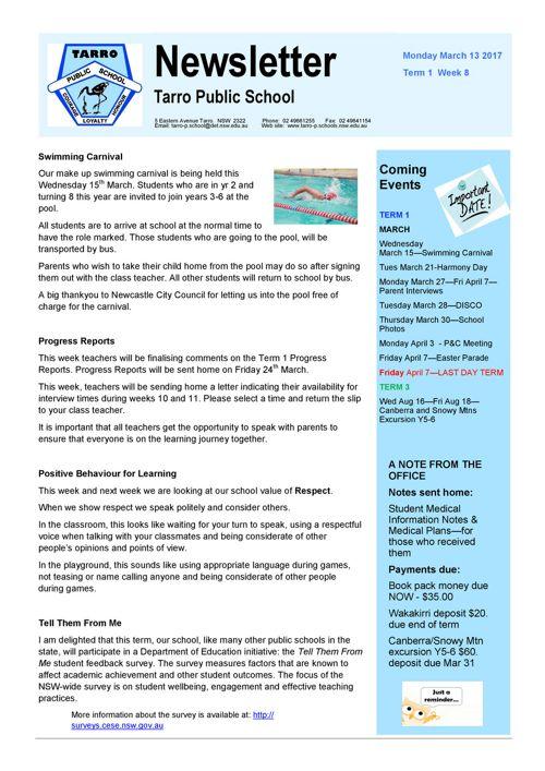 Newsletter March 13 2017 PDF