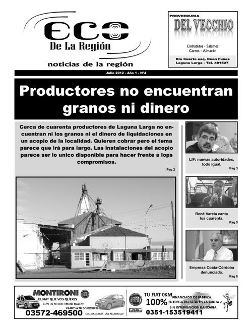 Eco de la Región Julio 2012