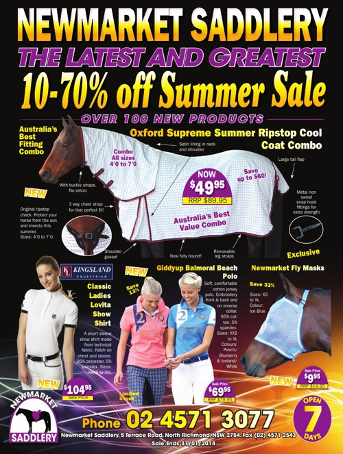 Newmarket Saddlery Summer 2013