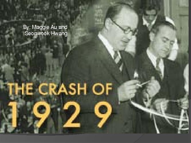 '29 Crash