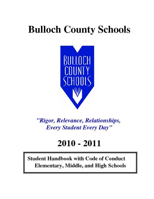 Bulloch County Student Handbook