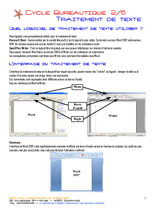 Atelier 2 : quels logiciels utliser ?