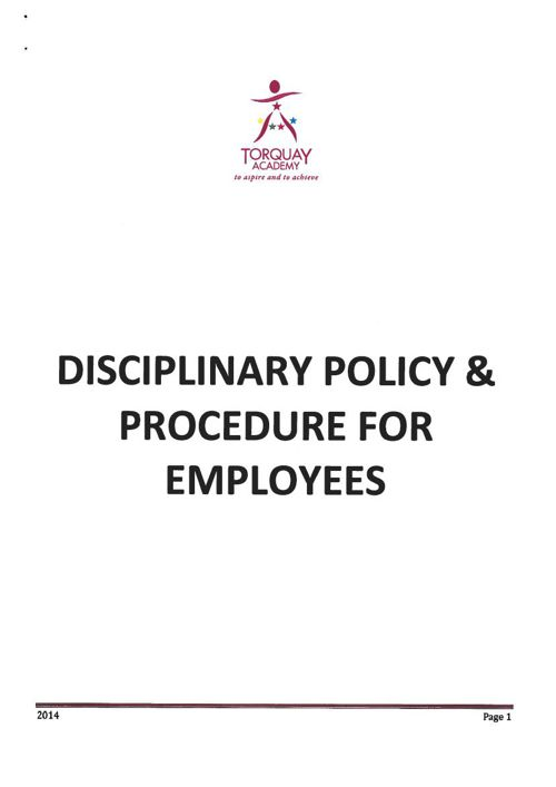 Disciplinary Sept 2014