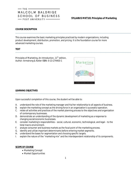 MKT101 (online)