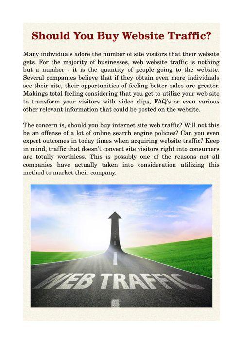 Should You Buy Website Traffic