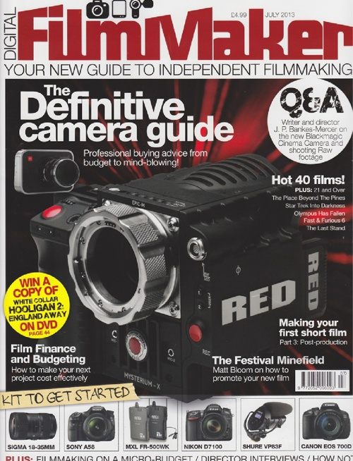 Article from Digital FilmMaker July 2013 about White Space Films