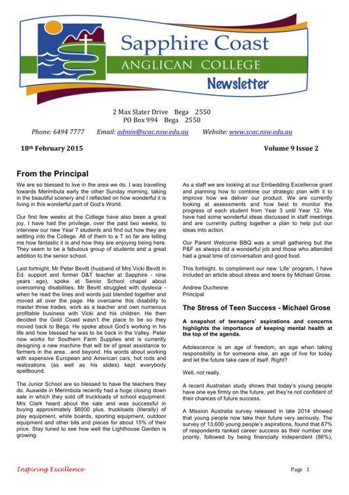 Newsletter Volume 9 Issue 2