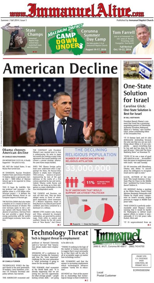 Immanuel Alive Newspaper Summer 2014