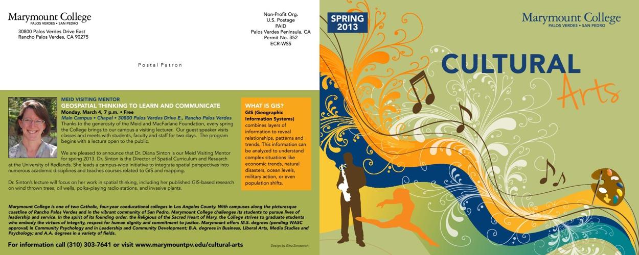 Cultural Arts Calendar 2013